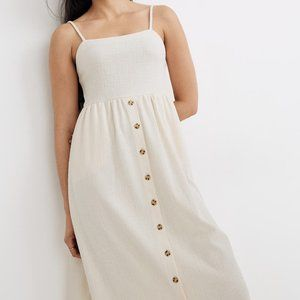 [NWT] Madewell Cami Button-Front Midi Dress